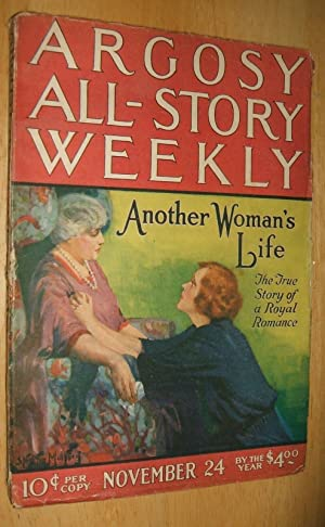 ARGOSY ALL-STORY WEEKLY NOVEMBER 24, 1923 VOLUME: Argosy All-Story Weekly)