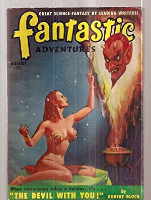 FANTASTIC ADVENTURES AUGUST 1950 VOLUME 12 NUMBER: Fantastic Adventures) [cover