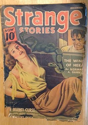 STRANGE STORIES DECEMBER 1940 VOL. IV NO.: Strange Stories) [Dorothy