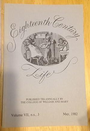 EIGHTEENTH CENTURY LIFE VOLUME VII, N.S., 3: Maccubbon, Robert P.