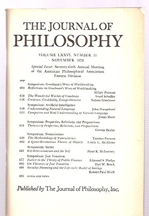 THE JOURNAL OF PHILOSOPHY VOLUME LXXVI, NUMBER: The Journal of