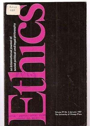 ETHICS: AN INTERNATIONAL JOURNAL OF SOCIAL, POLITICAL,: Ethics) Hardin, Russell