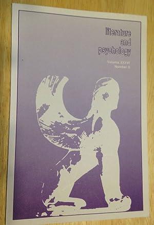 LITERATURE AND PSYCHOLOGY VOLUME XXXVI NUMBER 3: Literature and Psychology)