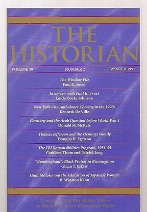 THE HISTORIAN VOLUME 59, NUMBER 2 WINTER: The Historian) Johnson,