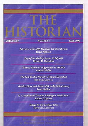 THE HISTORIAN VOLUME 59, NUMBER 1 FALL: The Historian) Johnson,