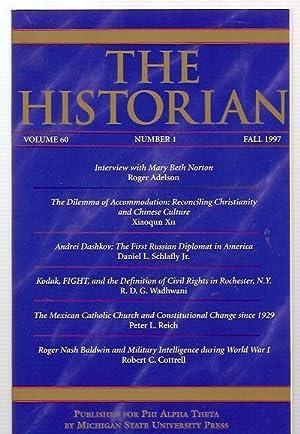 THE HISTORIAN VOLUME 60, NUMBER 1 FALL: The Historian) Johnson,