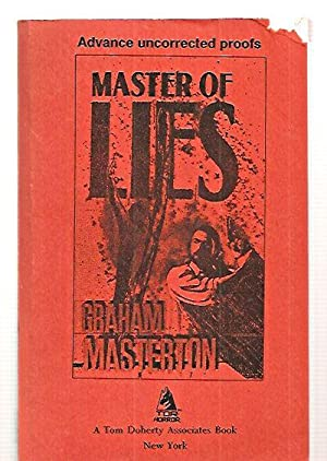 MASTER OF LIES Signed by the cover artist