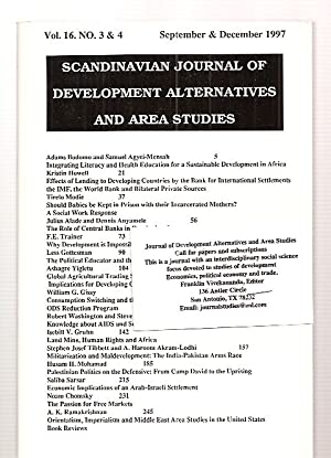 SCANDINAVIAN JOURNAL OF DEVELOPMENT ALTERNATIVES AND AREA: Scandinavian Journal of