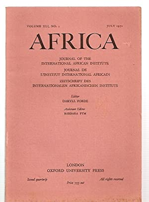 AFRICA: JOURNAL OF THE INTERNATIONAL AFRICAN INSTITUTE: Africa) Forde, Daryll