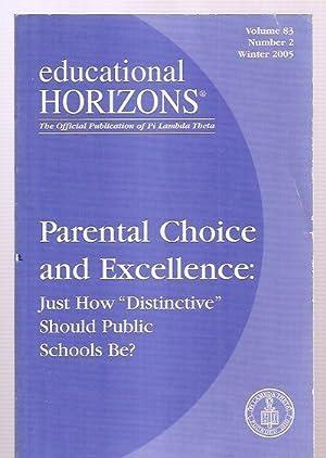 EDUCATIONAL HORIZONS [THE OFFICIAL PUBLICATION OF PI: Educational Horizons) [Edward