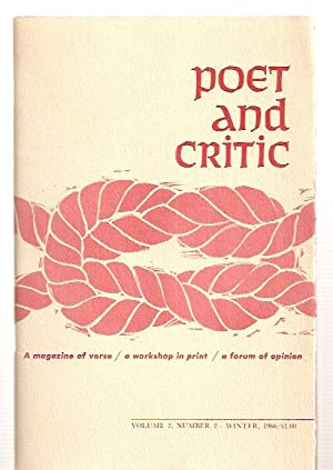 POET AND CRITIC: A MAGAZINE OF VERSE: Poet and Critic)