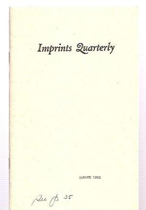 Imprints Quarterly Summer 1968 Vol. II No.: Imprints Quarterly) Latta,