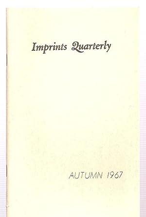 Imprints Quarterly Autumn 1967 Vol. I No.: Imprints Quarterly) Latta,