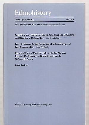 ETHNOHISTORY VOLUME 36 NUMBER 4 FALL 1989: Ethnohistory) Krech III,