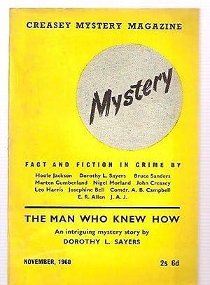 JOHN CREASEY MYSTERY MAGAZINE NOVEMBER 1960 VOLUME: John Creasey Mystery