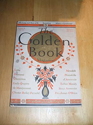 THE GOLDEN BOOK MAGAZINE SEPTEMBER 1925 VOLUME: The Golden Book