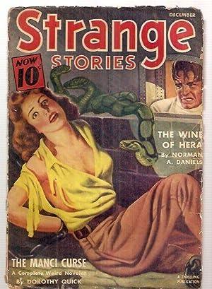 Strange Stories December 1940 Vol. Iv No.: edited by the