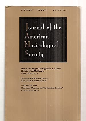 JOURNAL OF THE AMERICAN MUSICOLOGICAL SOCIETY VOLUME: Journal of the
