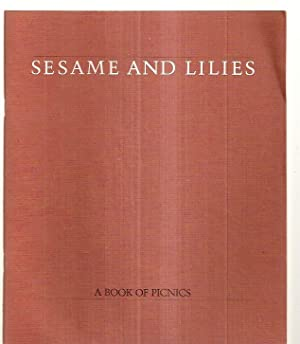 SESAME AND LILIES: A BOOK OF PICNICS: Fury, Frank [illustrated