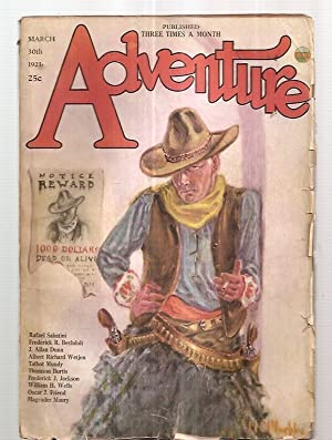 Adventure March 30th 1923 Vol. 39 [Xxxix] No. 6