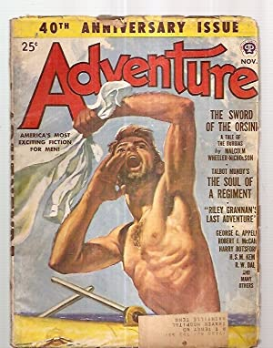 ADVENTURE NOVEMBER 1950 VOL. 124 NO. 1 40th ANNIVERSARY ISSUE
