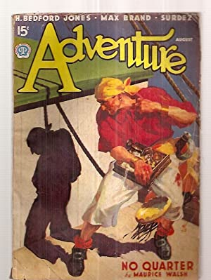 Adventure for August 1937 Vol. 97 No. 4