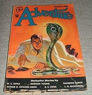 ADVENTURE JANUARY 1934 VOL. LXXXVIII NO. 1: Adventure) [cover design