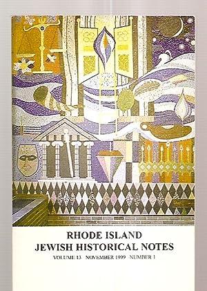 RHODE ISLAND JEWISH HISTORICAL NOTES NOVEMBER 1999: Rhode Island Jewish