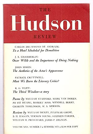 THE HUDSON REVIEW VOLUME XXV NUMBER 2: The Hudson Review)