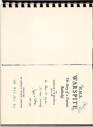 H.M.S. WARSPITE: THE STORY OF A FAMOUS BATTLESHIP: Roskill, Captain S. W., D.S.C., R.N. (RETD.) [...