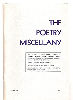 THE POETRY MISCELLANY NUMBER 4 1974: The Poetry Miscellany)