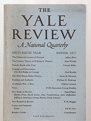 THE YALE REVIEW [A NATIONAL QUARTERLY] VOL.: Palmer, J. E.