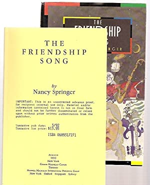 THE FRIENDSHIP SONG: Springer, Nancy [Dust Wrapper art by Robert Roth, design by Patrice Fodero]