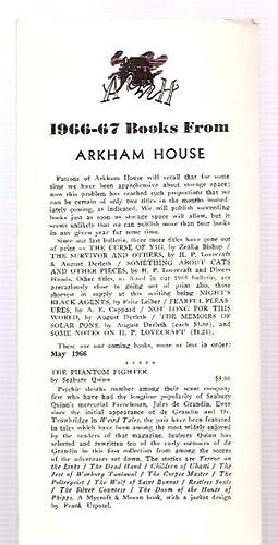 1966-67 BOOKS FROM ARKHAM HOUSE: Arkham House)