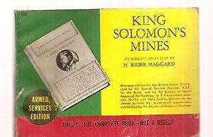 KING SOLOMON'S MINES [AN AFRICAN ADVENTURE]: Haggard, H. Rider