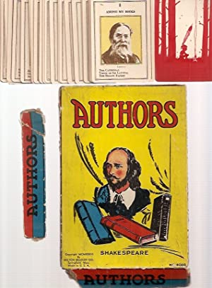 THE GAME OF MODERN AUTHORS: Anonymous [Milton Bradley Company] [Shakespeare, Sir Walter Scott, ...