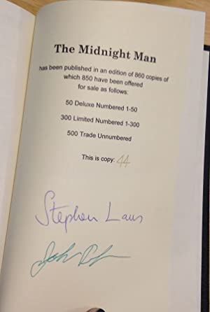 THE MIDNIGHT MAN: THE SHORT FICTION OF: Laws, Stephen [edited