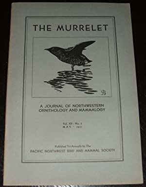 1931 May Issue the Murrelet Journal of Northwestern Ornithology and Mammalogy