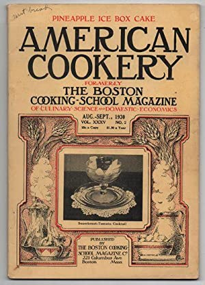 Nice Vintage Issue of the American Cookery Magazine for Aug-Sept 1930