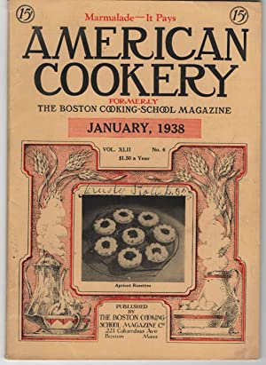 Nice Vintage Issue of the American Cookery Magazine for January 1938
