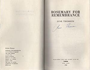 Rosemary for Remembrance: Thomson, June
