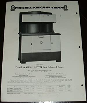 1940 Catalog Illustrated Advertising Page Washington Stoves & Ranges by Gray & Dudley
