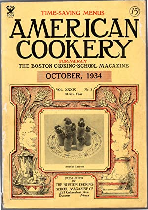 A Vintage Issue of the American Cookery Magazine for October 1934