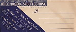 Hollywood Steeplechase Illustrated Envelope