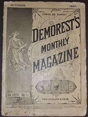 Demorest's Monthly Magazine for October 1887 with a Beautiful Color Lithograph