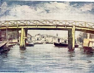 """Original Print """"The Lemon Bridge"""" from Japan: Mortimer Menpes"""