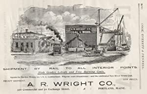 An Original 1896 Full Page Advertisement for A. R. Wright Coal & Wood Company