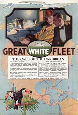 Original 1916 Great White Fleet and Community Plate Full Page Color Advertisements