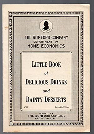 Vintage 1920 Advertising Cookbook Little Book of Delicious Drinks and Dainty Desserts by the Rumf...