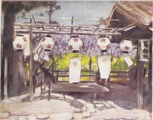 "Original 1905 Print ""Sun and Lanterns"" from: Mortimer Menpes"